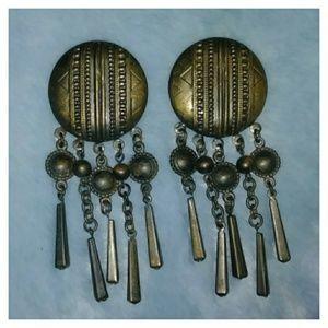 Bronze Metal Earrings